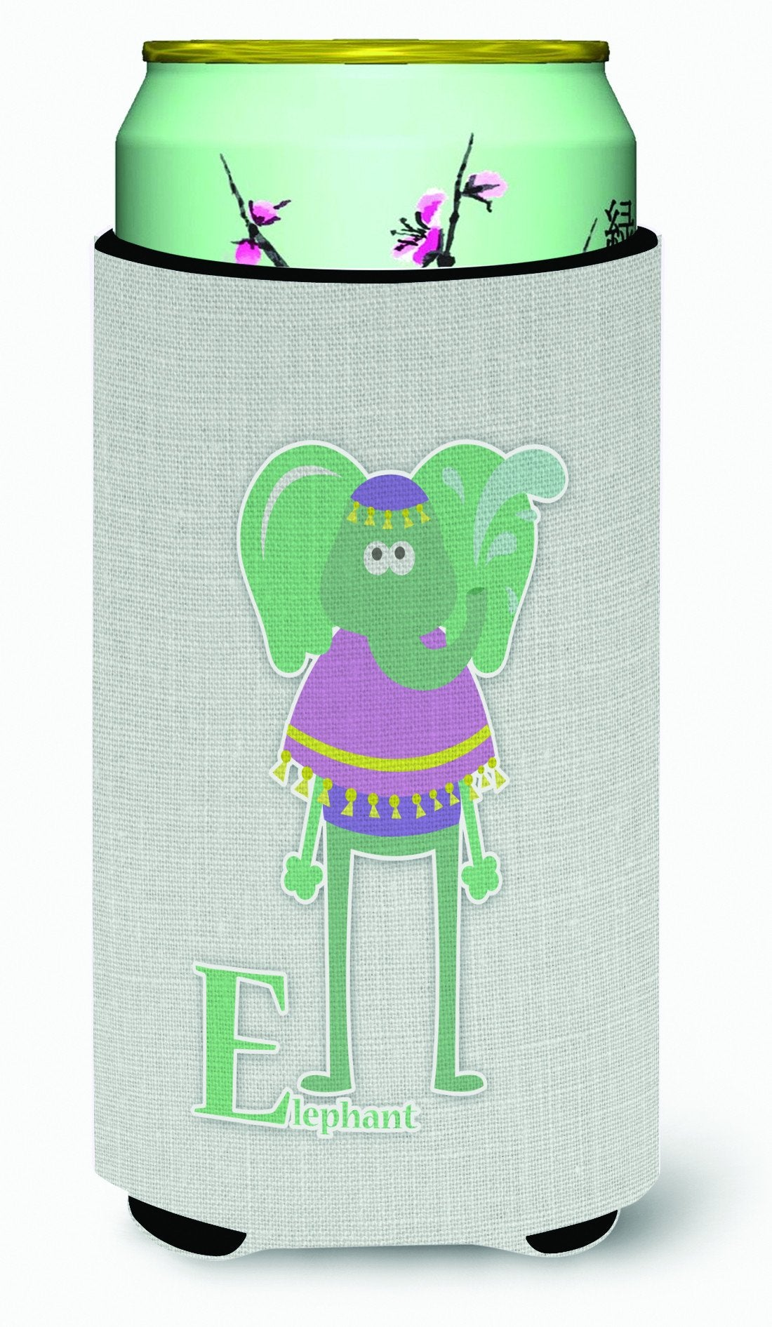 Alphabet E for Elephant Tall Boy Beverage Insulator Hugger BB5730TBC by Caroline's Treasures