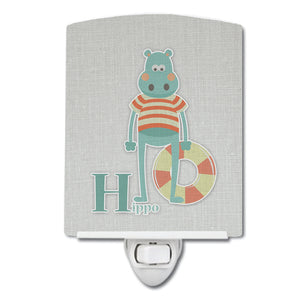 Buy this Alphabet H for Hippopotamus Ceramic Night Light BB5733CNL