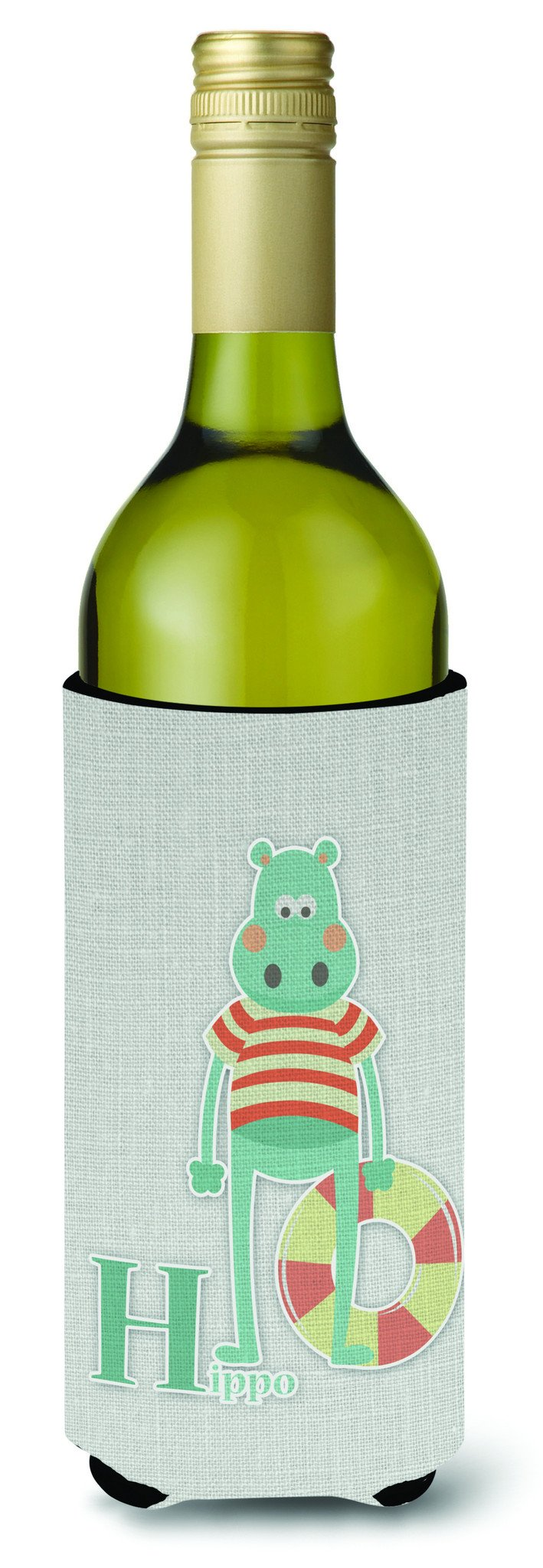 Buy this Alphabet H for Hippopotamus Wine Bottle Beverge Insulator Hugger BB5733LITERK