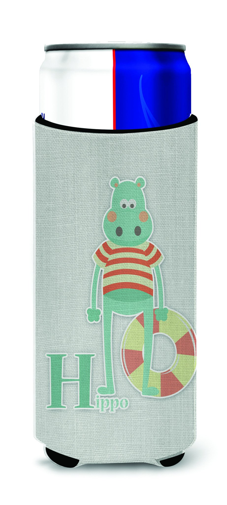 Alphabet H for Hippopotamus Michelob Ultra Hugger for slim cans BB5733MUK by Caroline's Treasures