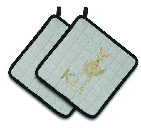 Buy this Alphabet K for Kangaroo Pair of Pot Holders BB5736PTHD