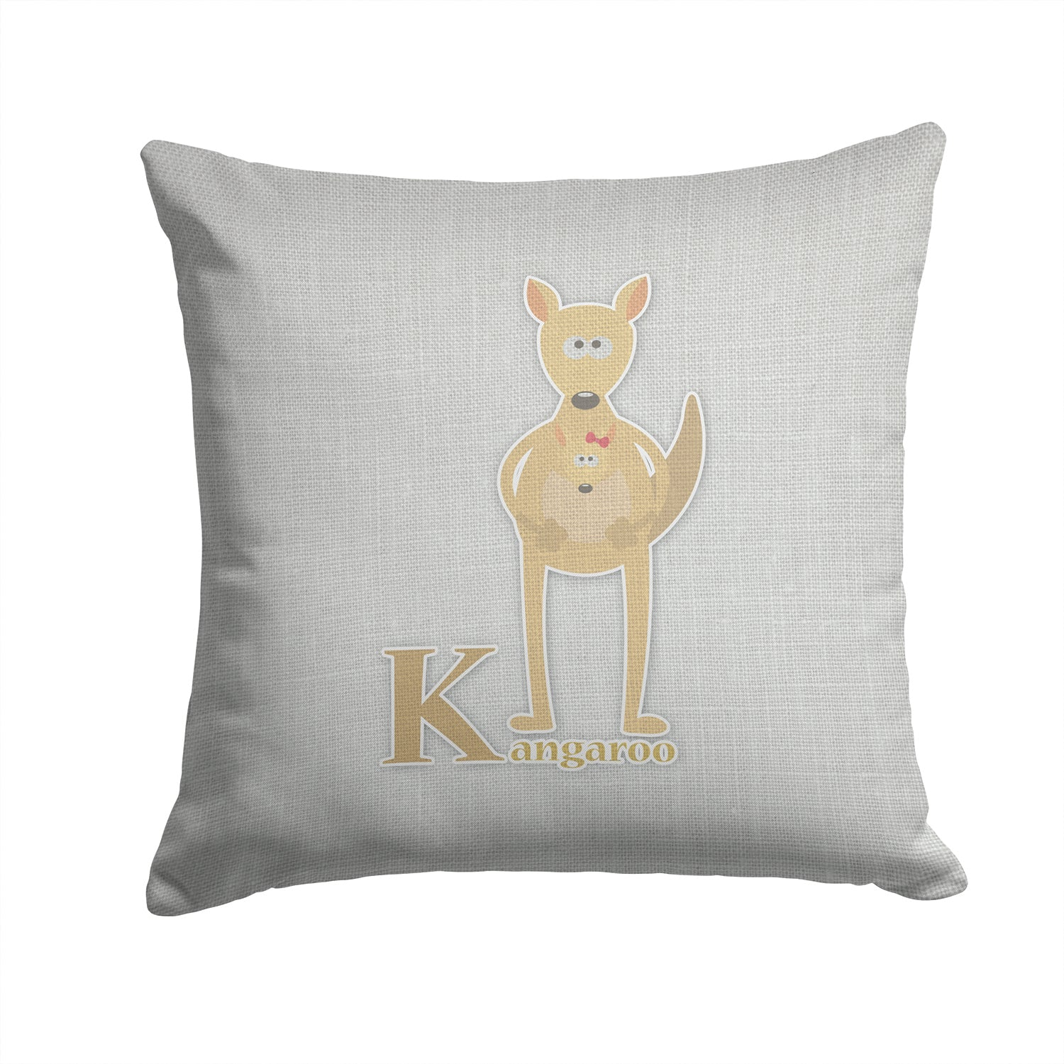 Buy this Alphabet K for Kangaroo Fabric Decorative Pillow BB5736PW1414
