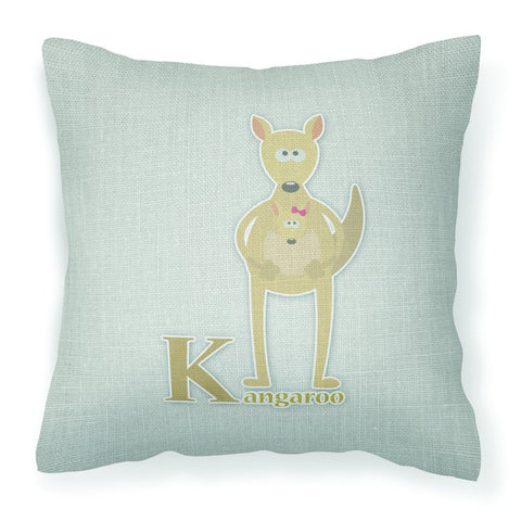 Buy this Alphabet K for Kangaroo Fabric Decorative Pillow BB5736PW1818