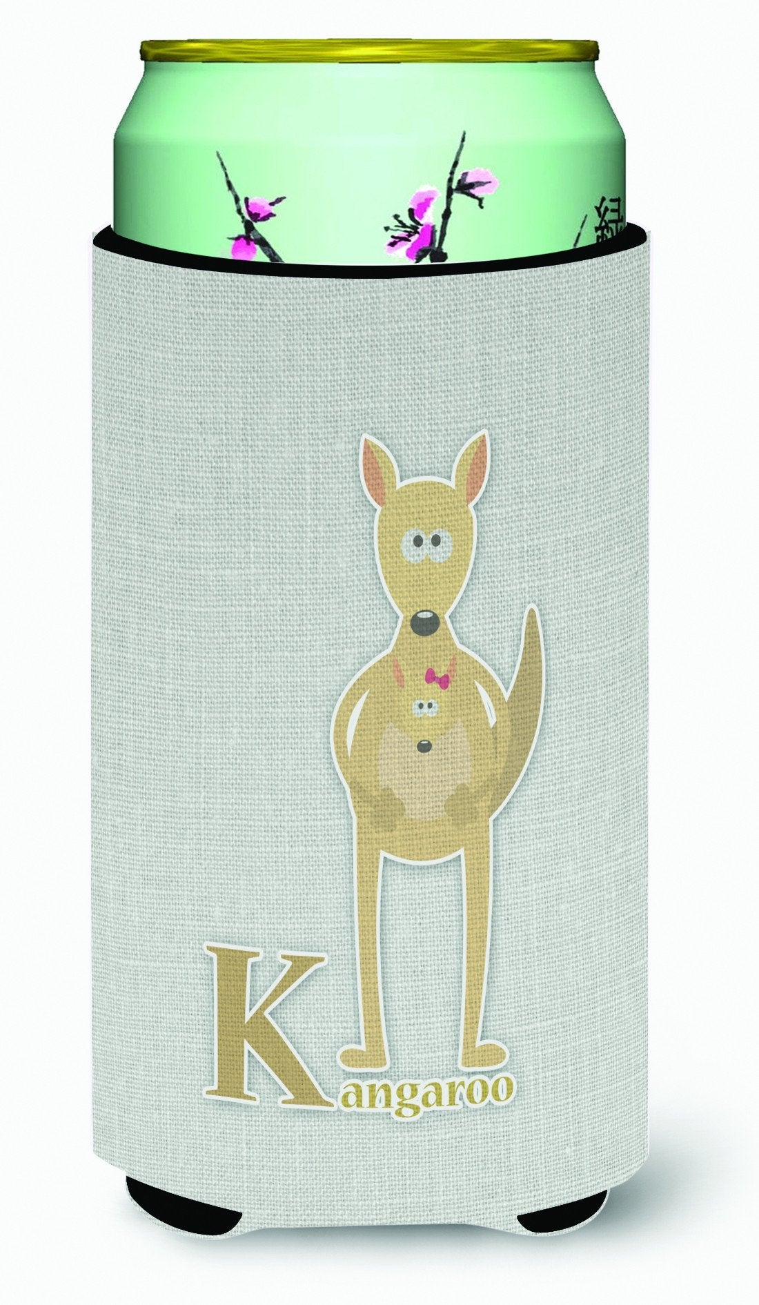 Buy this Alphabet K for Kangaroo Tall Boy Beverage Insulator Hugger BB5736TBC