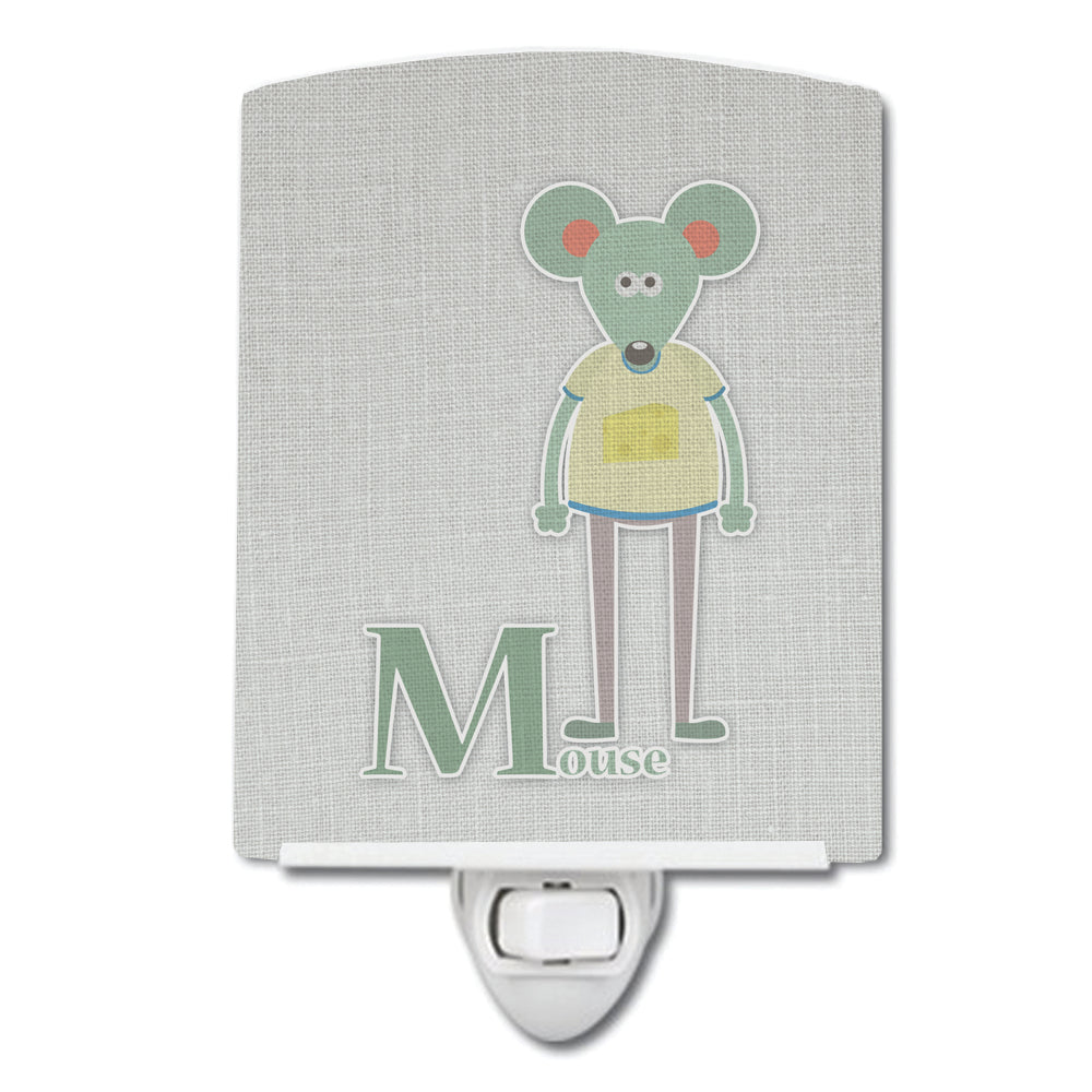 Alphabet M for Mouse Ceramic Night Light BB5738CNL by Caroline's Treasures