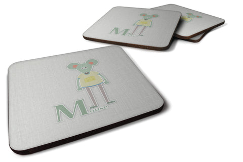 Buy this Alphabet M for Mouse Foam Coaster Set of 4 BB5738FC