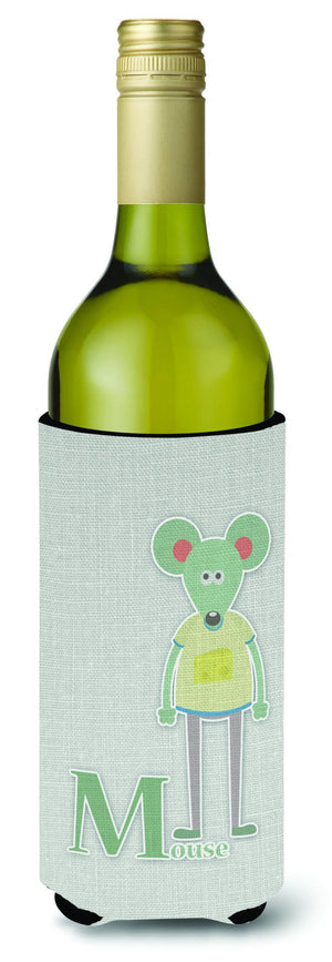 Buy this Alphabet M for Mouse Wine Bottle Beverge Insulator Hugger BB5738LITERK