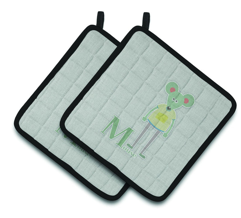 Buy this Alphabet M for Mouse Pair of Pot Holders BB5738PTHD