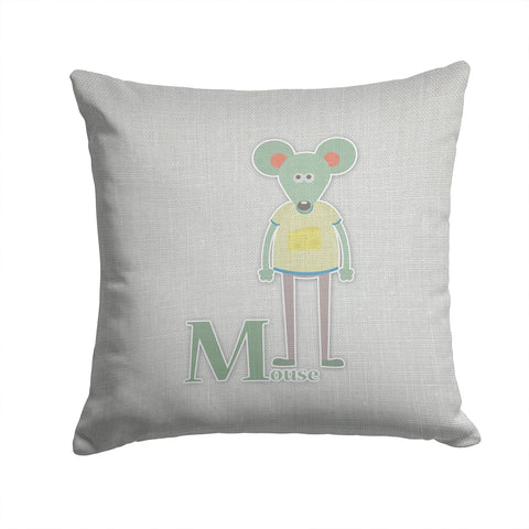 Buy this Alphabet M for Mouse Fabric Decorative Pillow BB5738PW1414