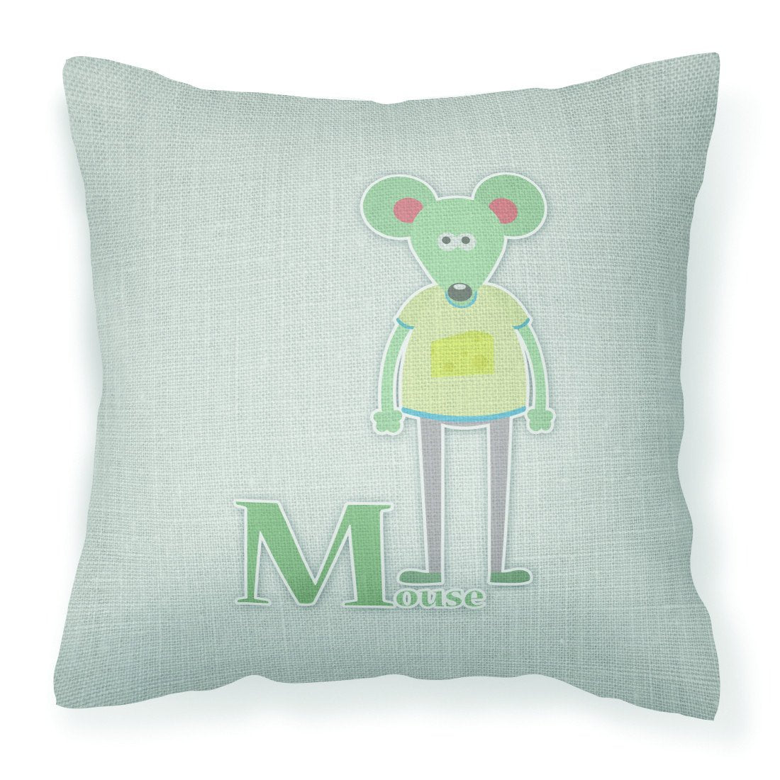 Buy this Alphabet M for Mouse Fabric Decorative Pillow BB5738PW1818