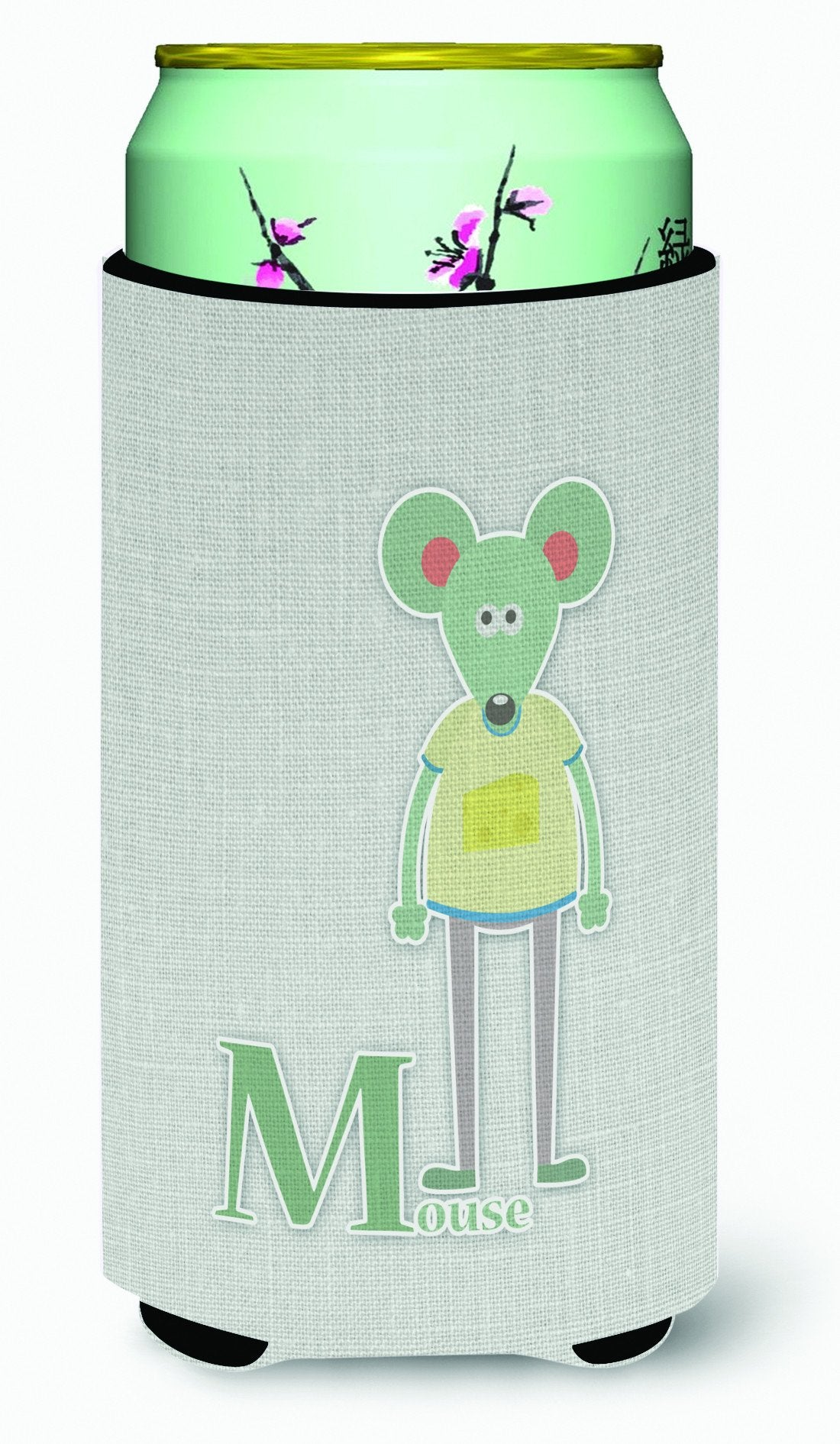 Buy this Alphabet M for Mouse Tall Boy Beverage Insulator Hugger BB5738TBC