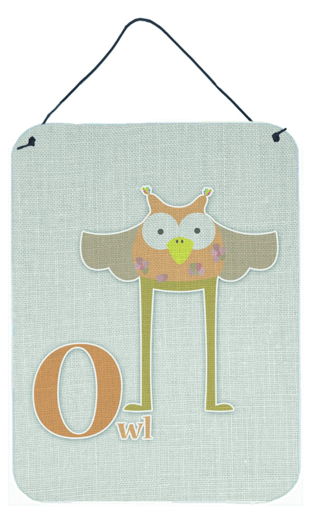 Alphabet O for Owl Wall or Door Hanging Prints BB5740DS1216 by Caroline's Treasures