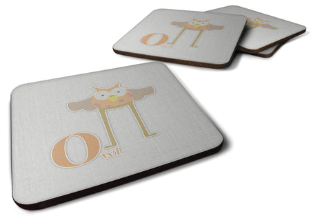 Buy this Alphabet O for Owl Foam Coaster Set of 4 BB5740FC