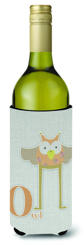 Buy this Alphabet O for Owl Wine Bottle Beverge Insulator Hugger BB5740LITERK