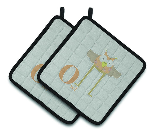 Buy this Alphabet O for Owl Pair of Pot Holders BB5740PTHD