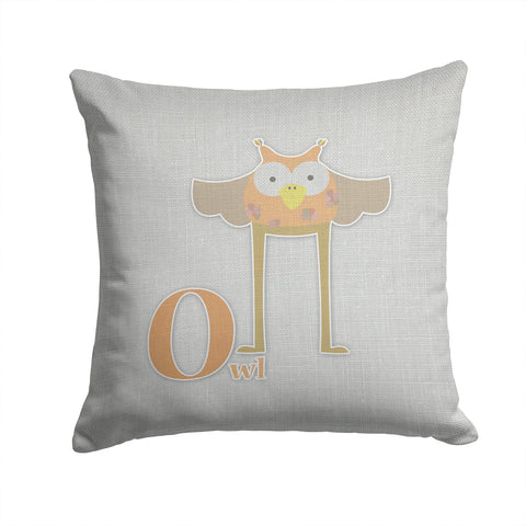 Buy this Alphabet O for Owl Fabric Decorative Pillow BB5740PW1414