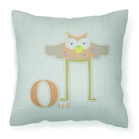 Buy this Alphabet O for Owl Fabric Decorative Pillow BB5740PW1818