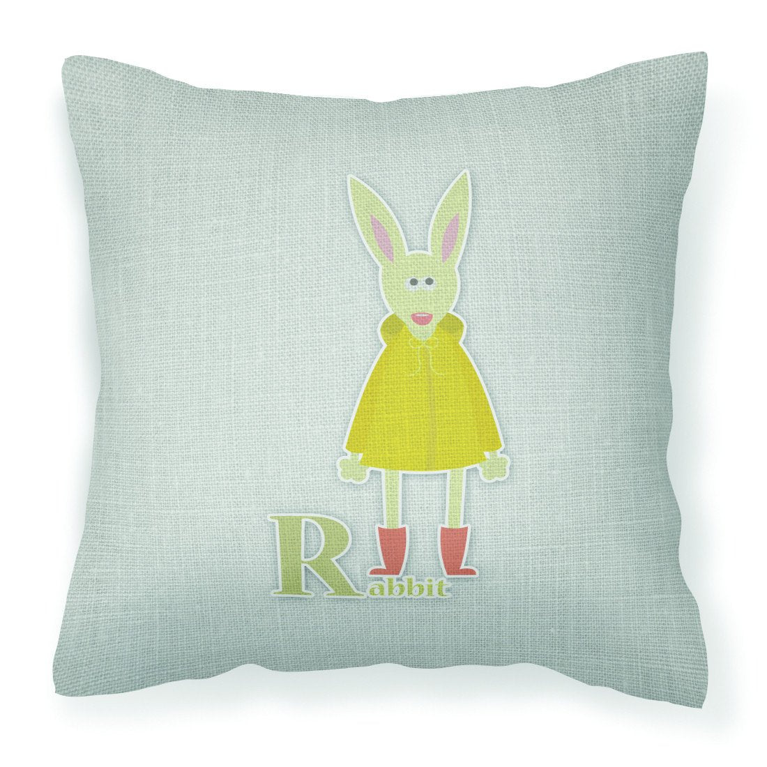Alphabet R for Rabbit Fabric Decorative Pillow BB5743PW1818 by Caroline's Treasures