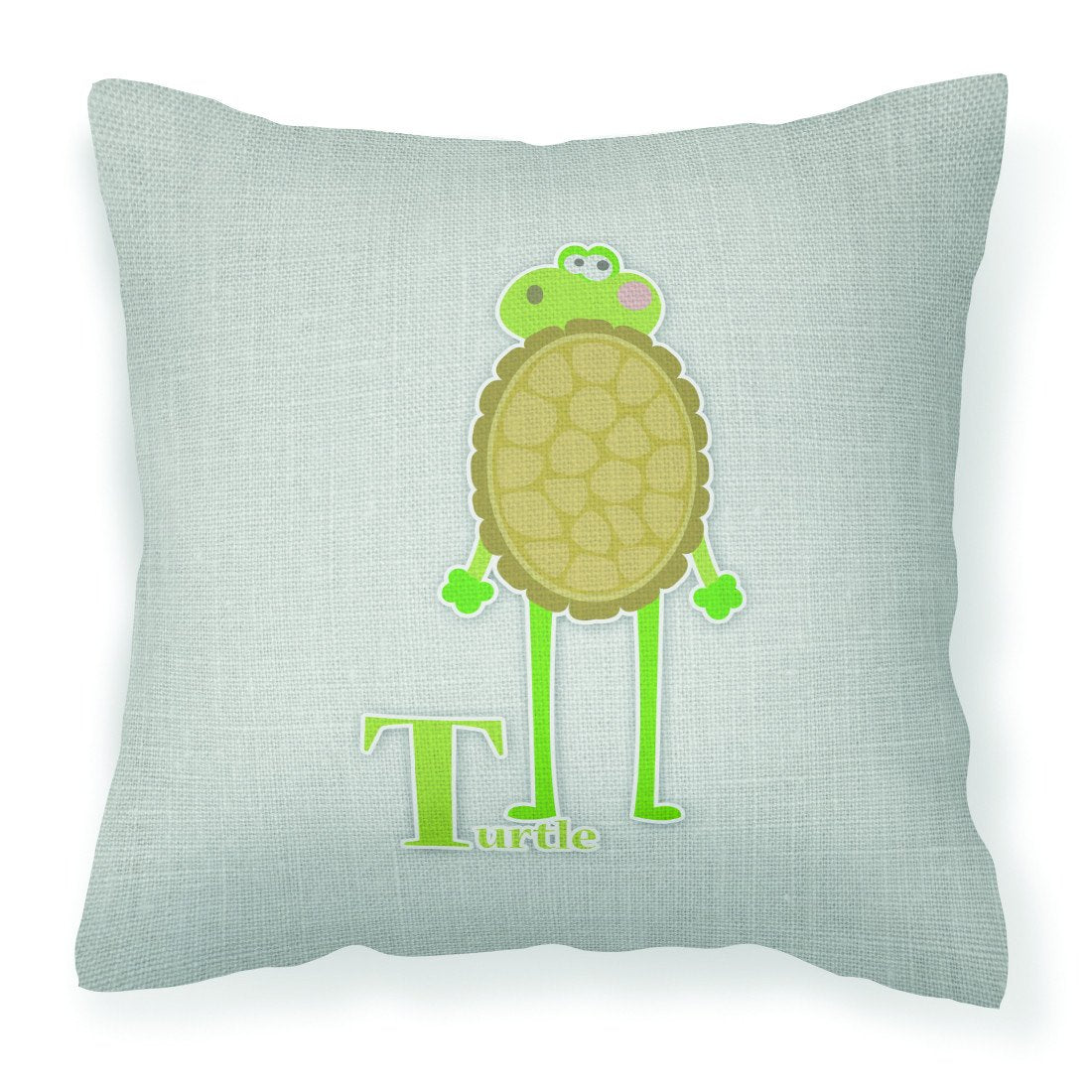 Alphabet T for Turtle Fabric Decorative Pillow BB5745PW1818 by Caroline's Treasures