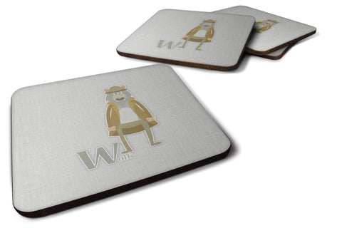 Buy this Alphabet W for Wolf Foam Coaster Set of 4 BB5748FC
