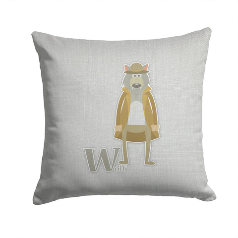 Buy this Alphabet W for Wolf Fabric Decorative Pillow BB5748PW1414