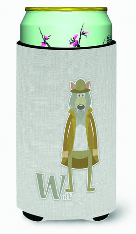 Buy this Alphabet W for Wolf Tall Boy Beverage Insulator Hugger BB5748TBC