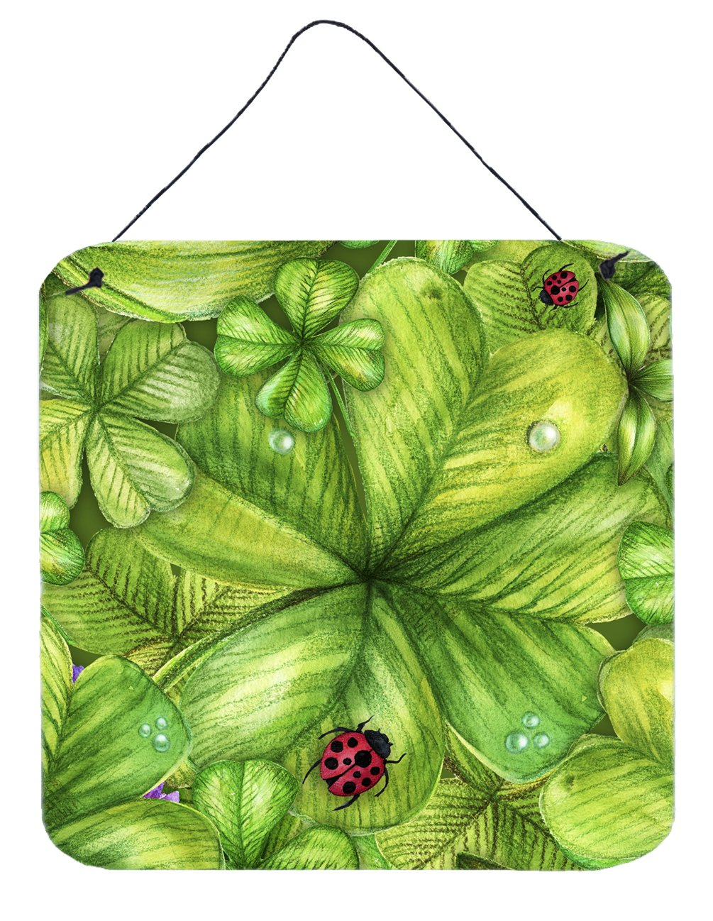 Shamrocks and Lady bugs Wall or Door Hanging Prints by Caroline's Treasures