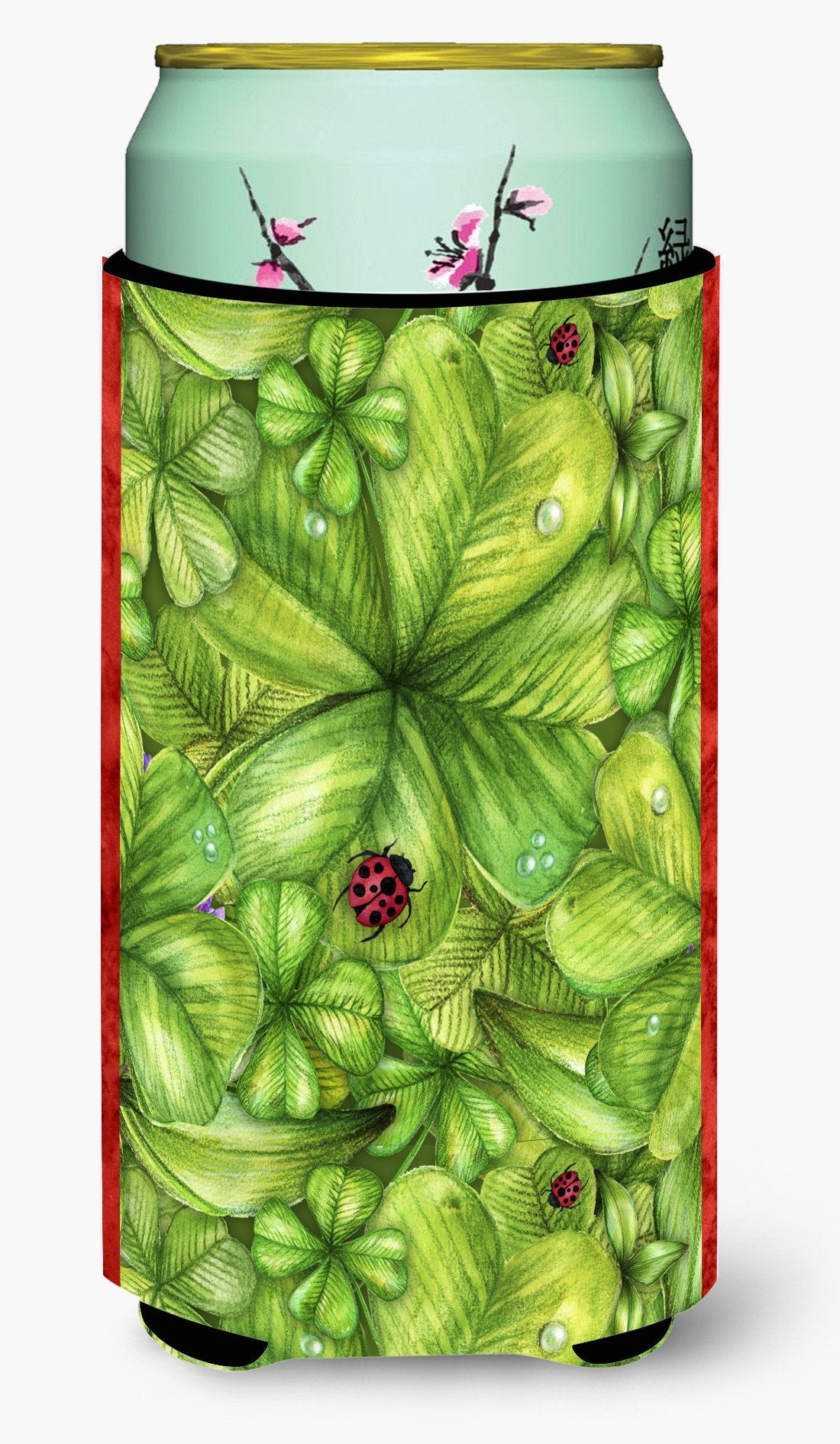 Shamrocks and Lady bugs Tall Boy Beverage Insulator Hugger BB5762TBC by Caroline's Treasures