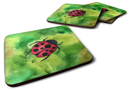 Buy this Irish Lady Bug Foam Coaster Set of 4 BB5770FC