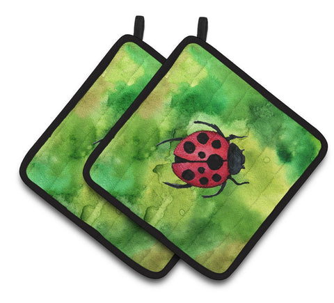 Buy this Irish Lady Bug Pair of Pot Holders BB5770PTHD