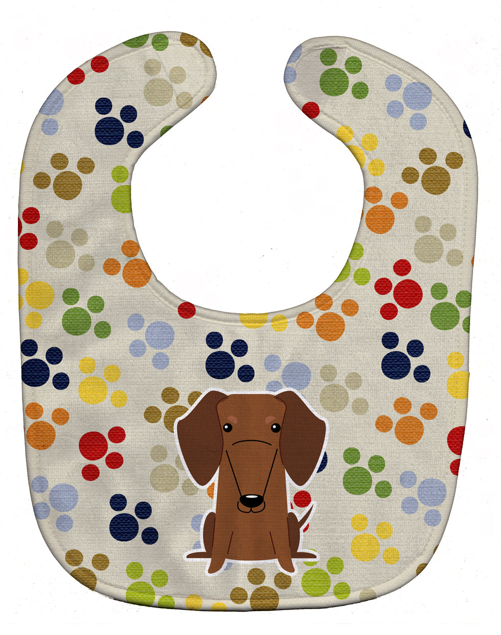 Pawprints Dachshund Red Brown Baby Bib BB5959BIB by Caroline's Treasures