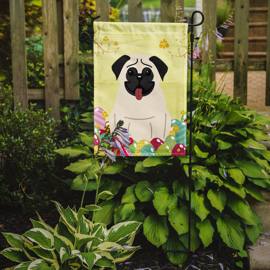 Buy this Easter Eggs Pug Cream Flag Garden Size BB6004GF