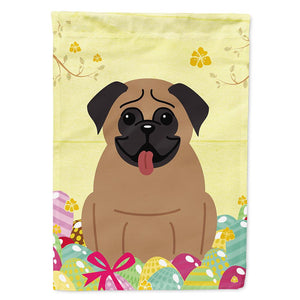 Buy this Easter Eggs Pug Brown Flag Garden Size BB6005GF