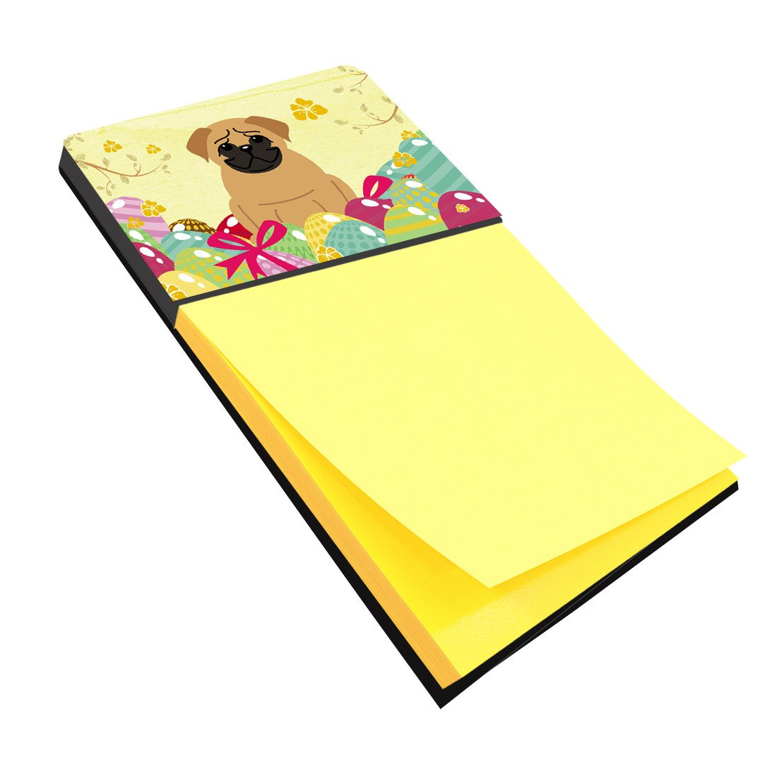 Easter Eggs Pug Brown Sticky Note Holder BB6007SN by Caroline's Treasures