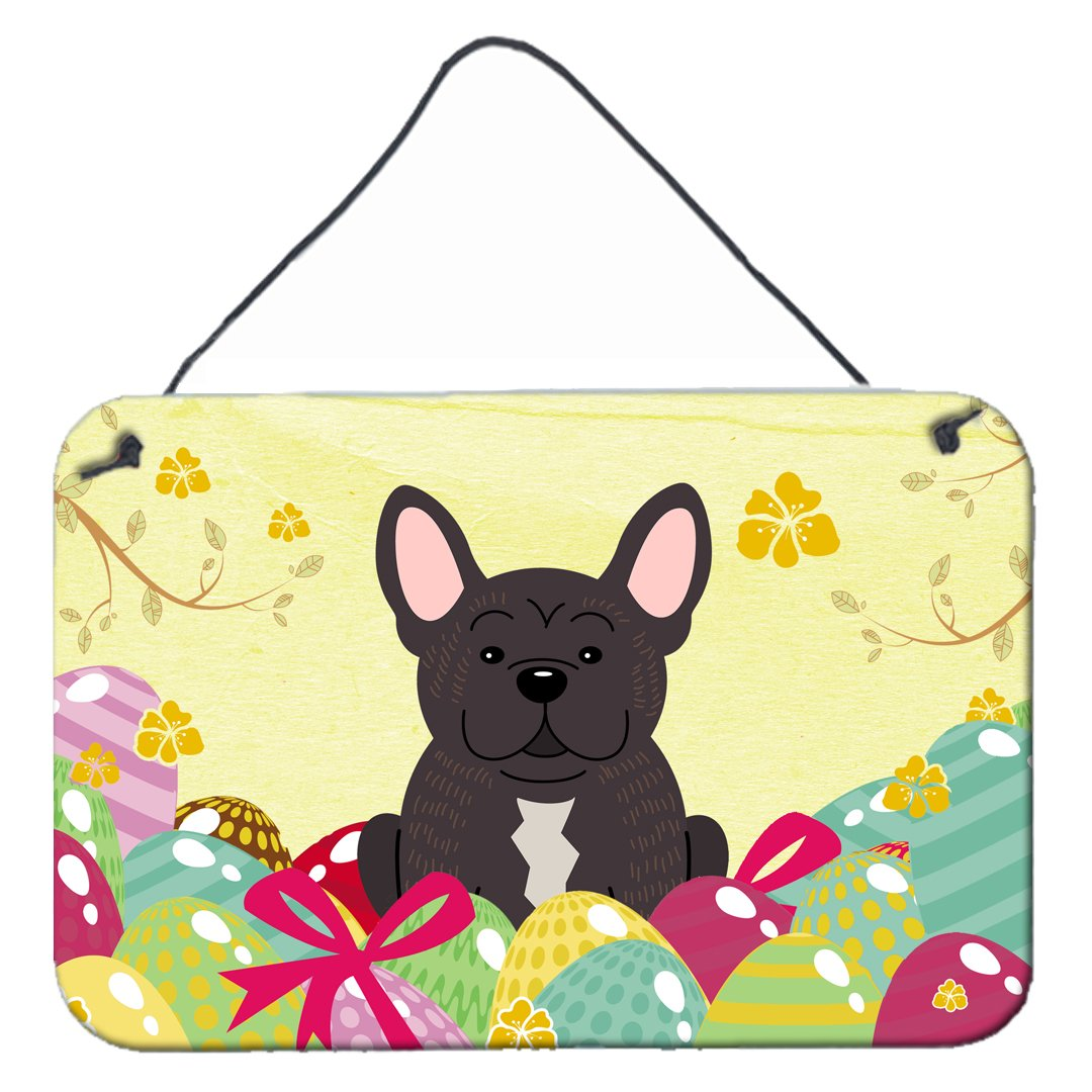 Buy this Easter Eggs French Bulldog Brindle Wall or Door Hanging Prints