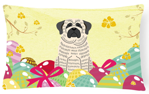 Easter Eggs Mastiff Brindle White Canvas Fabric Decorative