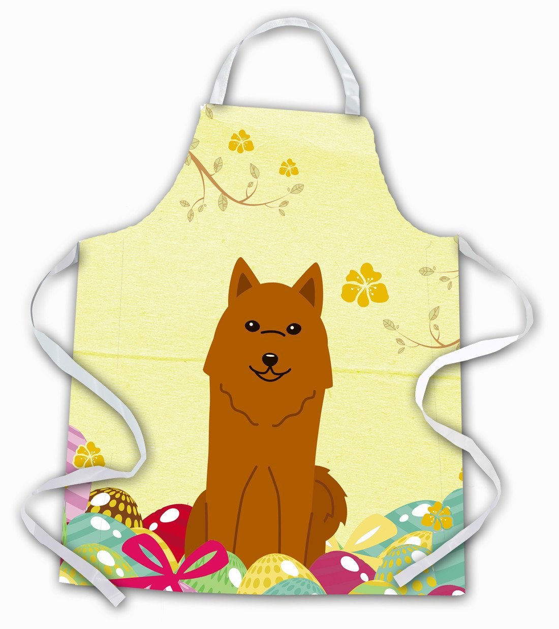 Easter Eggs Karelian Bear Dog Apron BB6022APRON by Caroline's Treasures
