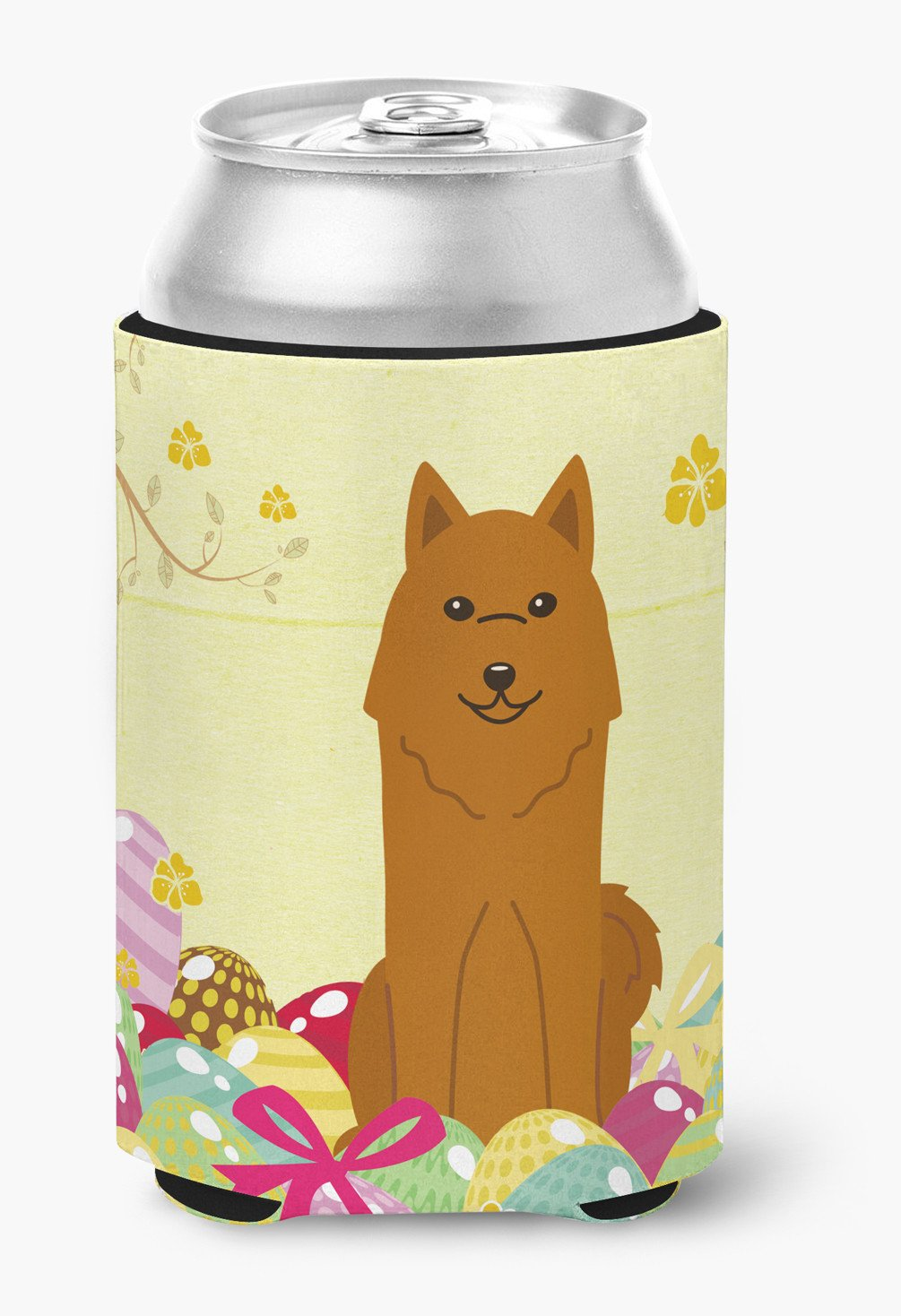 Buy this Easter Eggs Karelian Bear Dog Can or Bottle Hugger BB6022CC