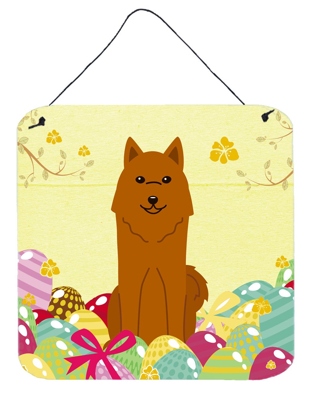 Buy this Easter Eggs Karelian Bear Dog Wall or Door Hanging Prints BB6022DS66
