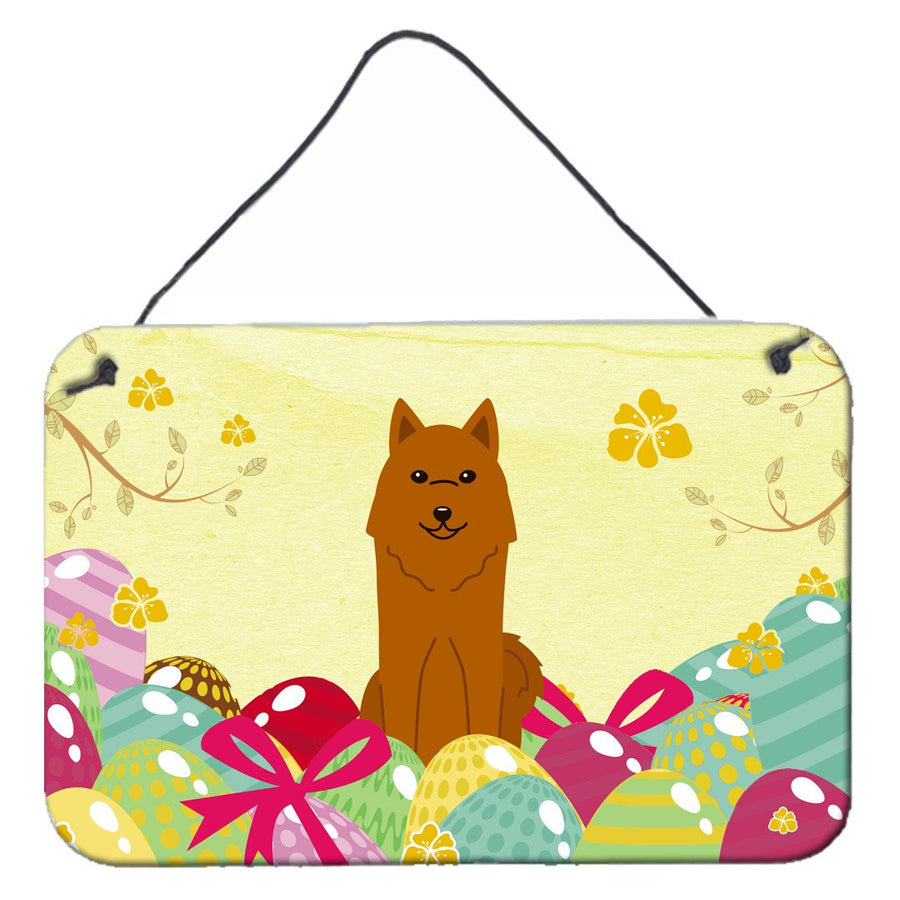 Buy this Easter Eggs Karelian Bear Dog Wall or Door Hanging Prints BB6022DS812