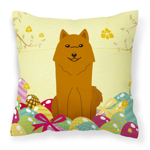 Buy this Easter Eggs Karelian Bear Dog Fabric Decorative Pillow BB6022PW1818