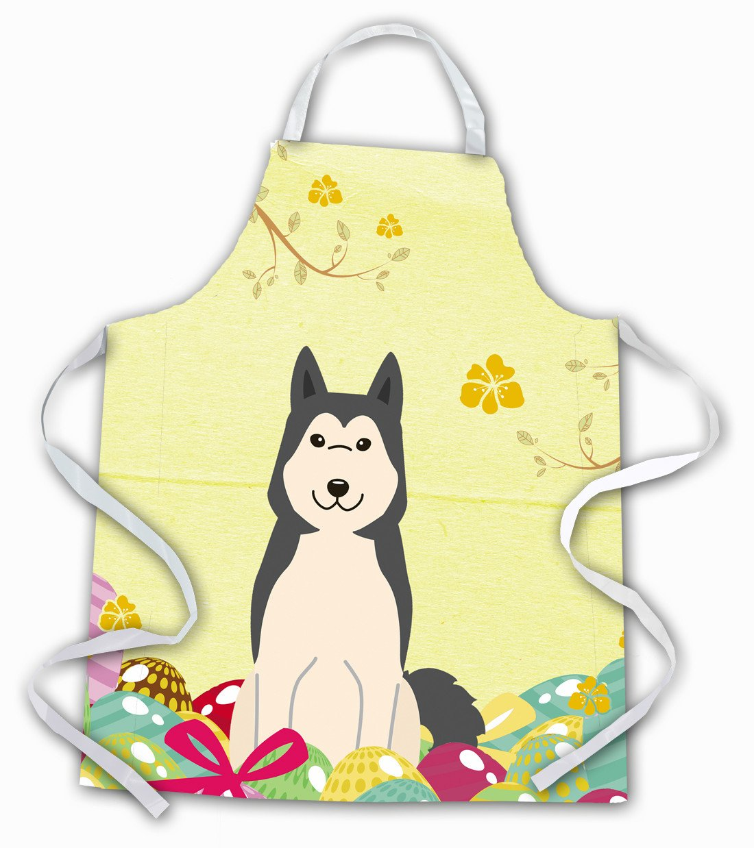 Easter Eggs West Siberian Laika Spitz Apron BB6025APRON by Caroline's Treasures