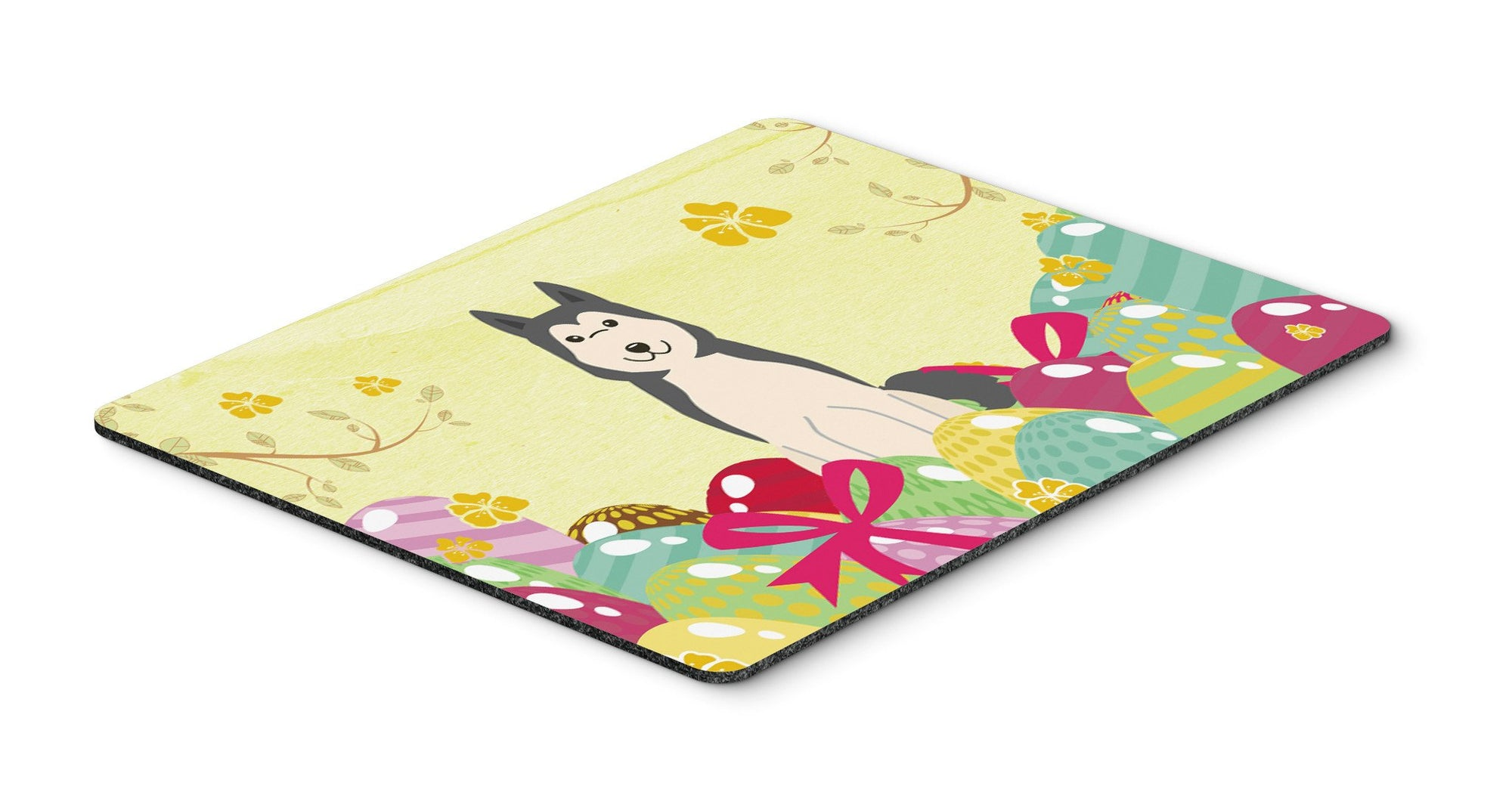 Easter Eggs West Siberian Laika Spitz Mouse Pad, Hot Pad or Trivet BB6025MP by Caroline's Treasures