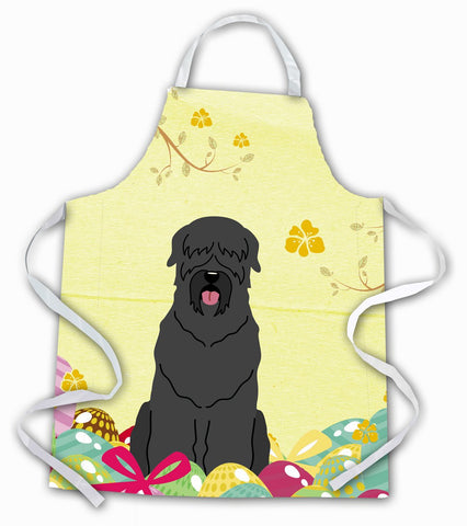 Buy this Easter Eggs Black Russian Terrier Apron BB6026APRON