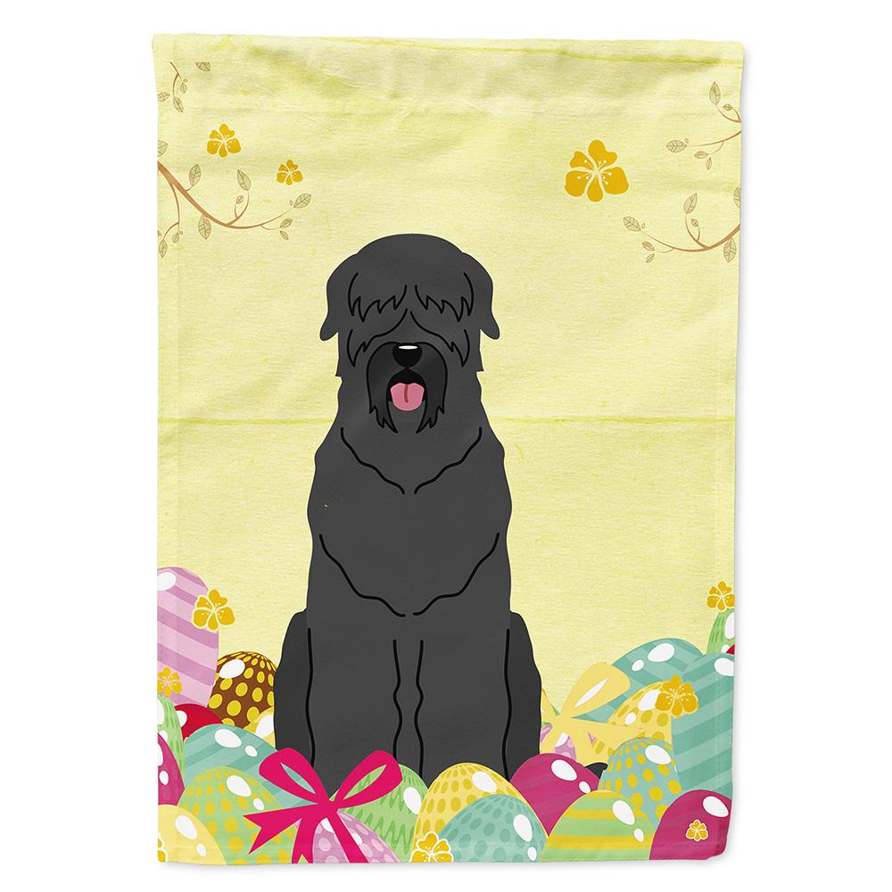 Buy this Easter Eggs Black Russian Terrier Flag Garden Size BB6026GF