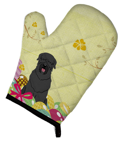 Buy this Easter Eggs Black Russian Terrier Oven Mitt BB6026OVMT