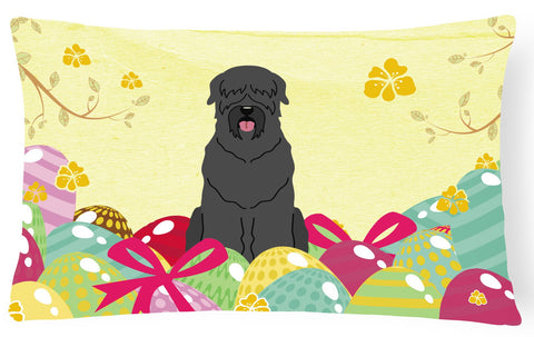 Buy this Easter Eggs Black Russian Terrier Canvas Fabric Decorative Pillow BB6026PW1216
