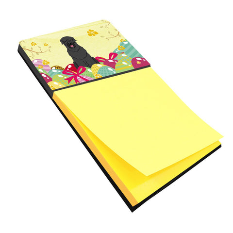 Buy this Easter Eggs Black Russian Terrier Sticky Note Holder BB6026SN