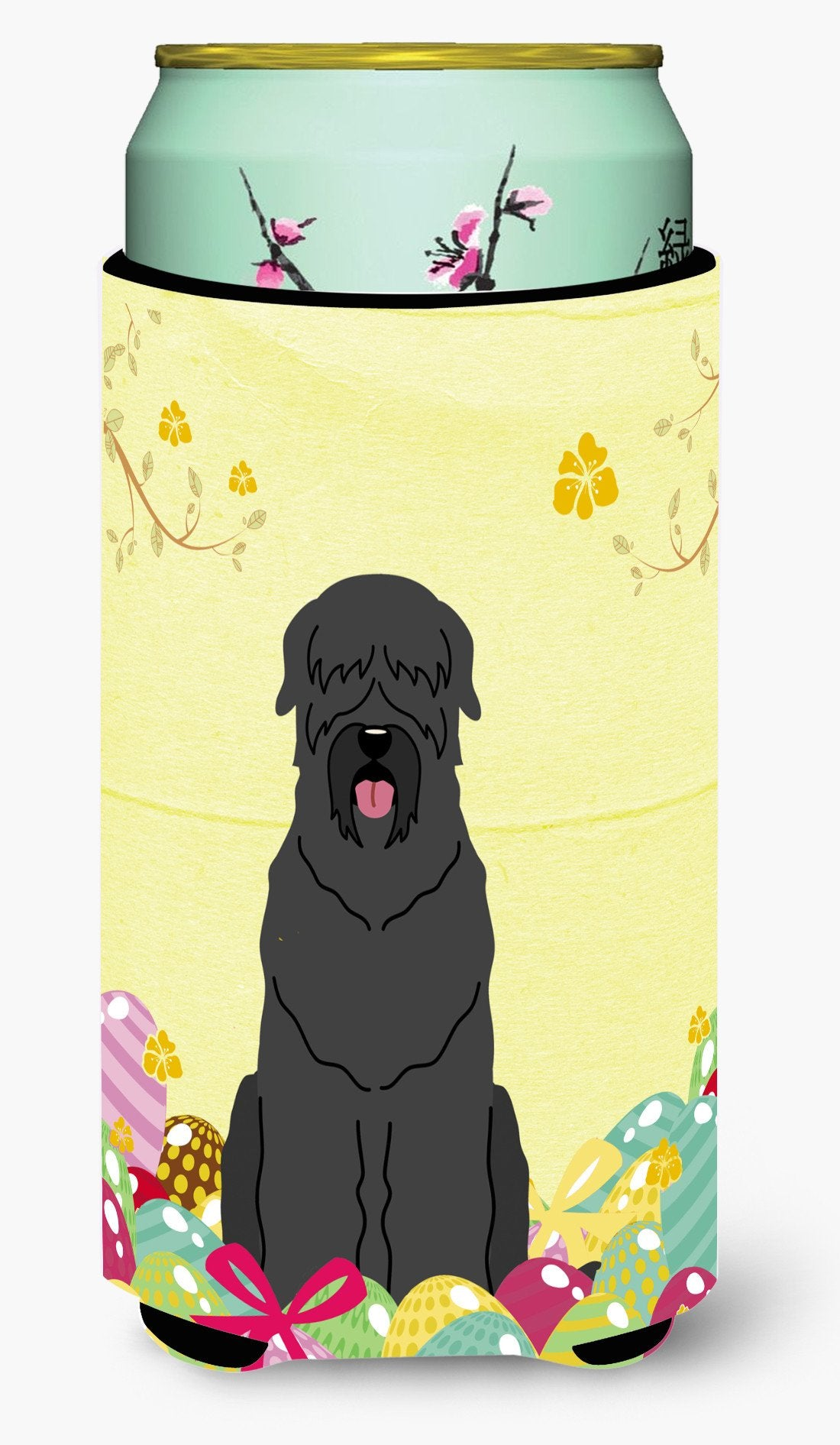 Easter Eggs Black Russian Terrier Tall Boy Beverage Insulator Hugger BB6026TBC by Caroline's Treasures