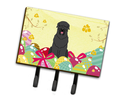 Buy this Easter Eggs Black Russian Terrier Leash or Key Holder BB6026TH68